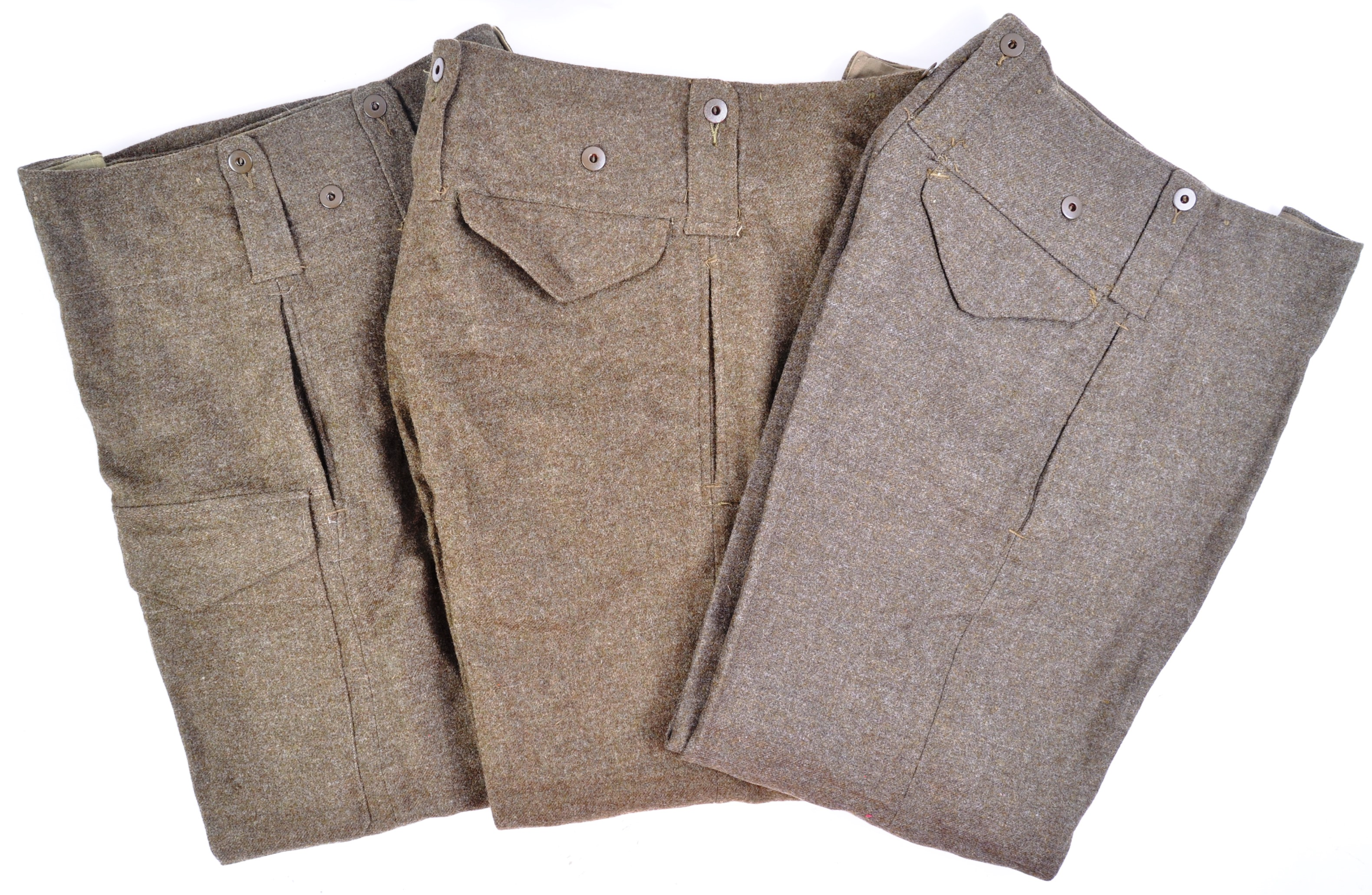 WWII SECOND WORLD WAR INTEREST - BRITISH ARMY TROUSERS