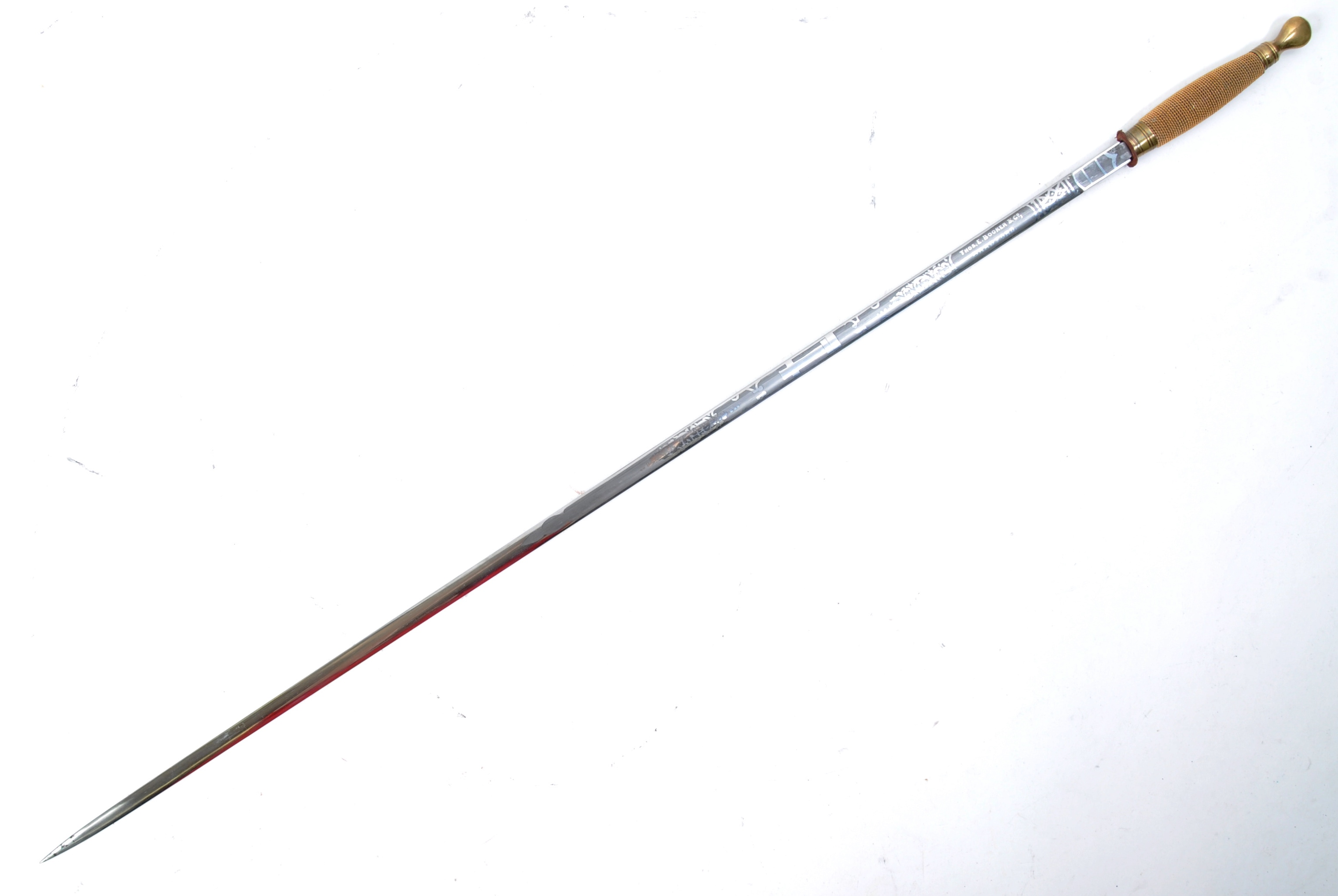 EARLY 20TH MASONIC WALKING CANE WITH CONCEALED SWORD - Image 2 of 11
