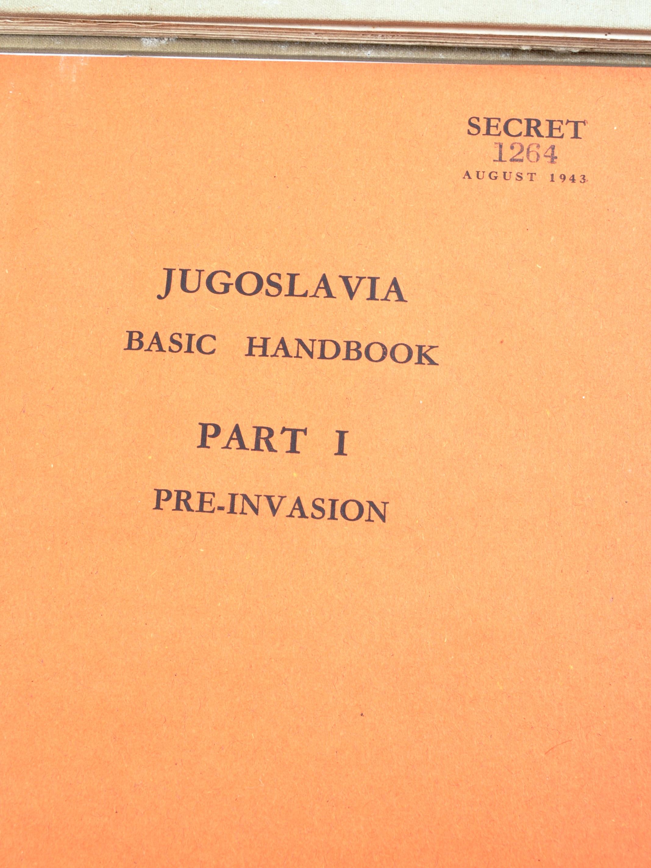 RARE ORIGINAL WWII 'SECRET' JUGOSLAVIA BRITISH HANDBOOKS - Image 2 of 9