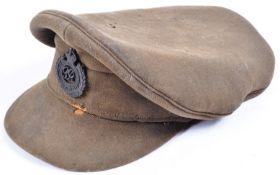 ORIGINAL WWI FIRST WORLD WAR BRITISH ARMY OFFICER'S CAP