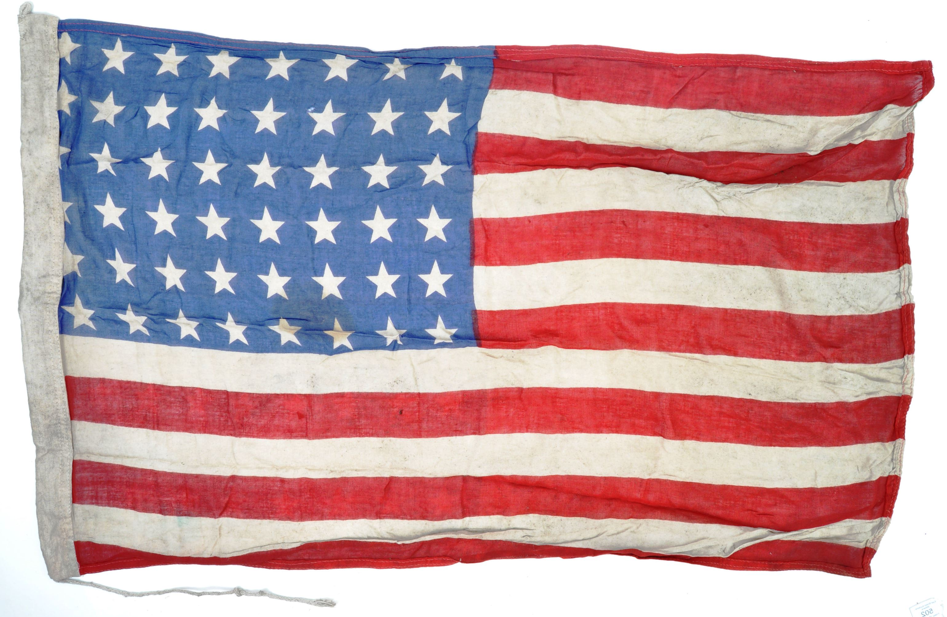 WWII SECOND WORLD WAR INTEREST FLAG - 1942 US ARMY DATED - Image 7 of 7