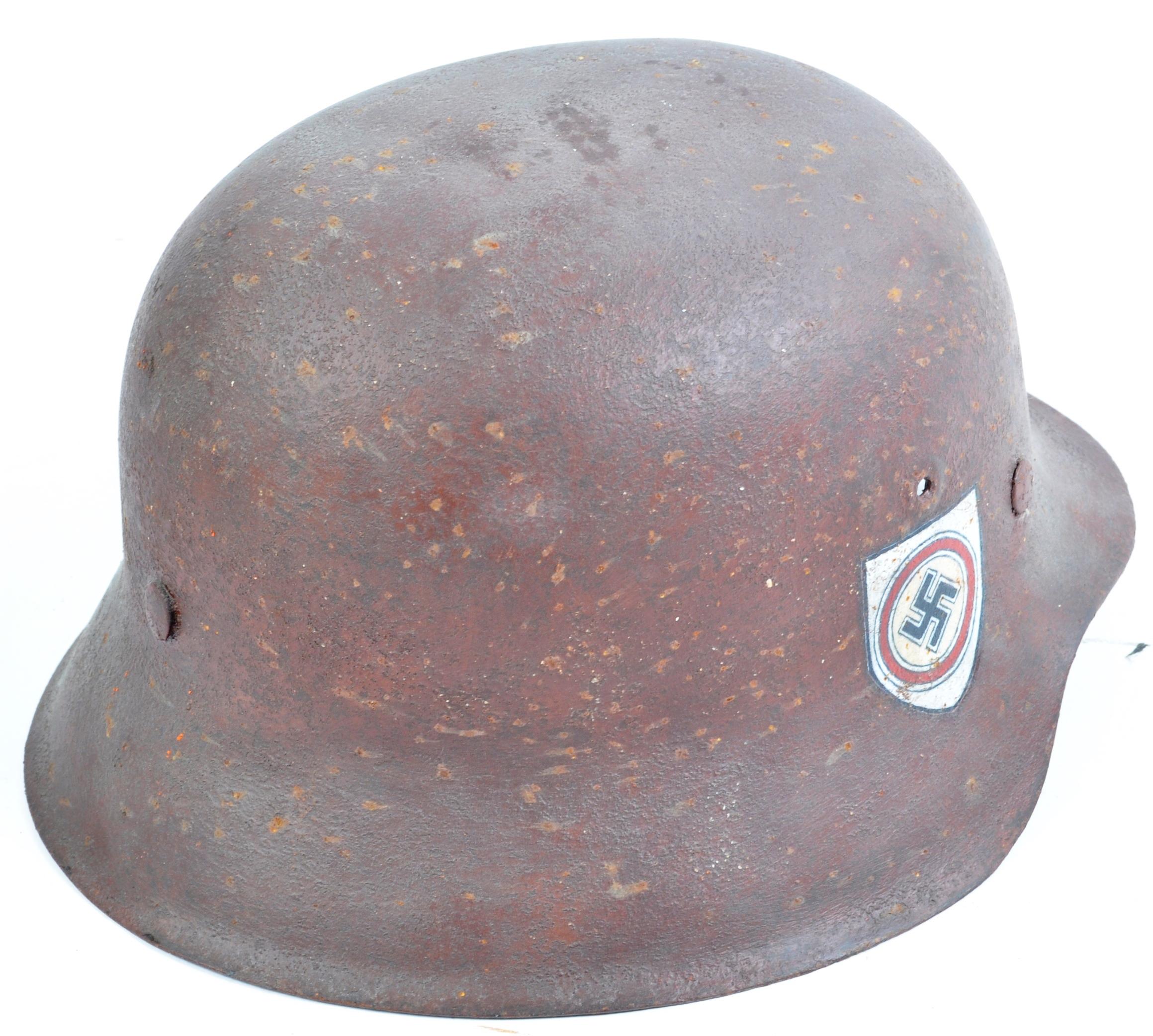 WWII SECOND WORLD WAR THIRD REICH NAZI M42 HELMET - Image 3 of 6