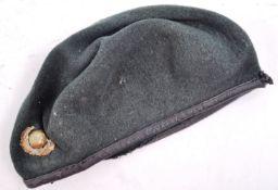 WWII ROYAL MARINE COMMANDO UNIFORM BERET & BADGE