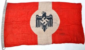 WWII INTEREST - LARGE HITLER YOUTH THIRD REICH FLAG