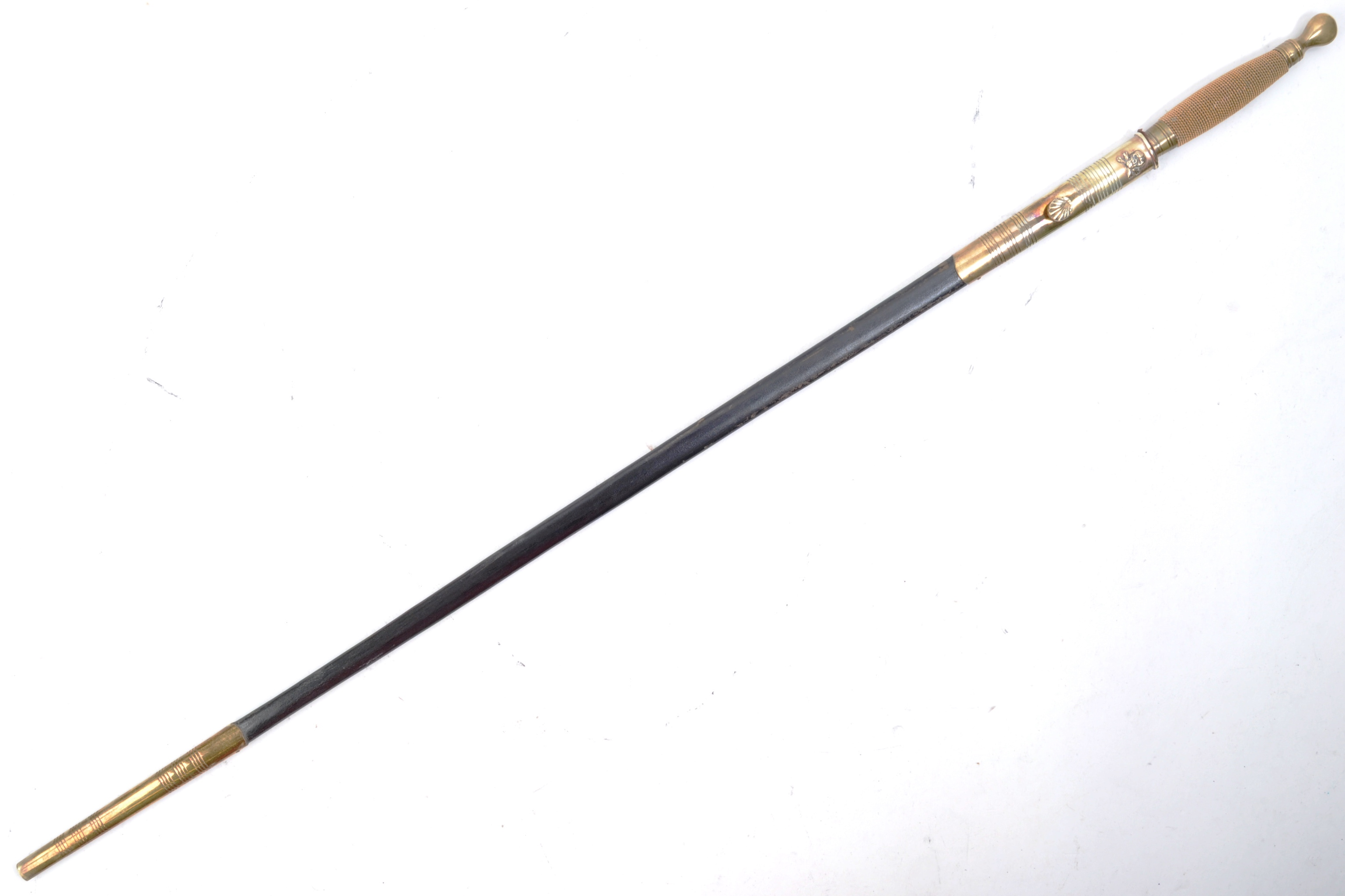 EARLY 20TH MASONIC WALKING CANE WITH CONCEALED SWORD - Image 8 of 11