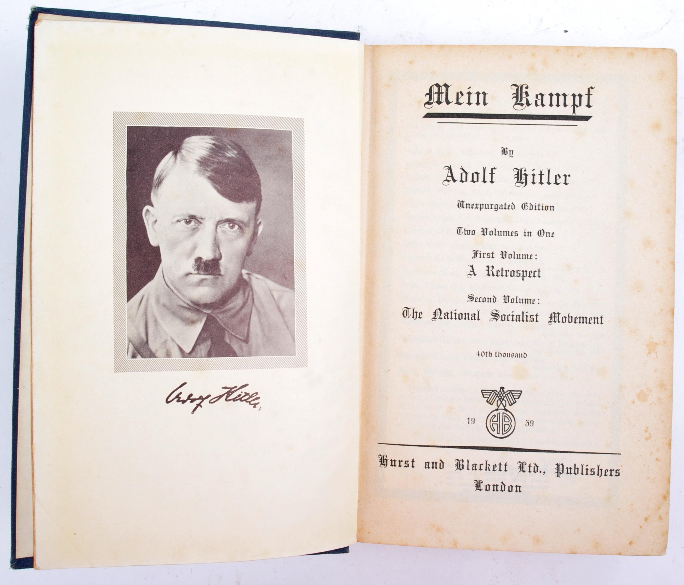 ADOLF HITLER - MEIN KAMPF - 1ST ENGLISH EDITION 1939