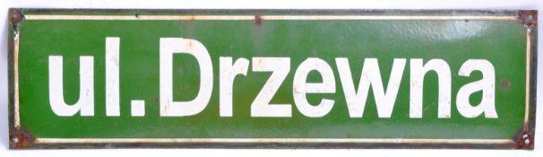 WWII SECOND WORLD WAR INTEREST - POLISH ENAMEL STREET SIGN