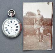 WWI FIRST WORLD WAR RFC PILOT'S POCKET WATCH W/PHOTOGRAPH