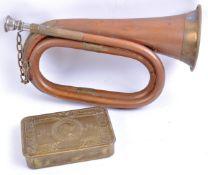 WWI FIRST WORLD WAR PRINCESS MARY GIFT TIN & BUGLE