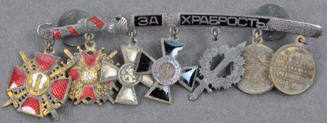 IMPERIAL RUSSIAN CIVIL WAR MINIATURE DRESS MOUNT MEDALS