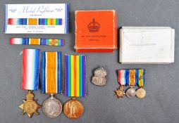 WWI FIRST WORLD WAR MEDAL GROUP - MAJOR IN THE WEST YORKSHIRE RGMT - MID