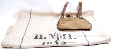 SECOND WORLD WAR GERMAN THIRD REICH GRAIN SACK & BREAD BAG