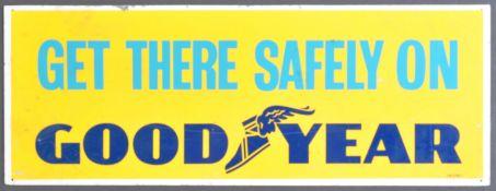 GOODYEAR - ORIGINAL VINTAGE GARAGE METAL ADVERTISING SIGN
