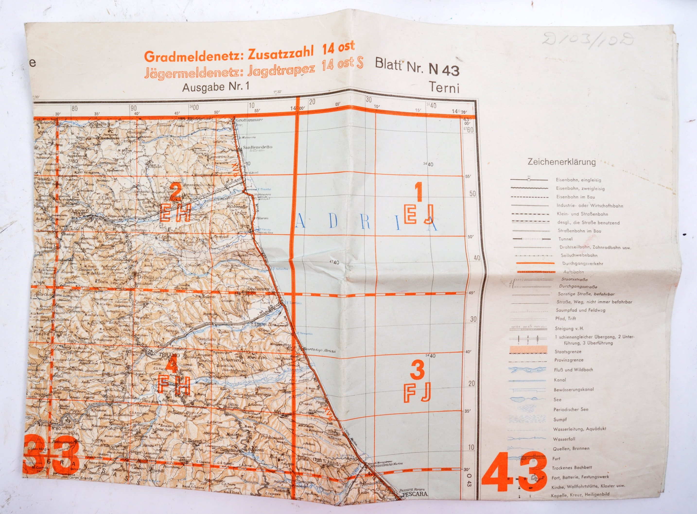 COLLECTION OF X6 ASSORTED WWII GERMAN ARMY MAPS - Image 7 of 10