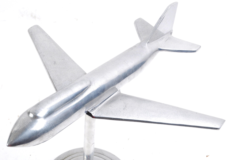 IMPRESSIVE ART DECO STYLE CHROME MODEL AEROPLANE - Image 2 of 7
