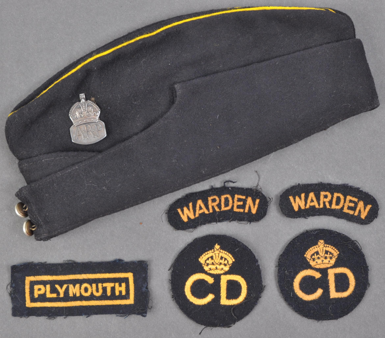 SECOND WORLD WAR AIR RAID PRECAUTIONS OFFICERS SIDE CAP