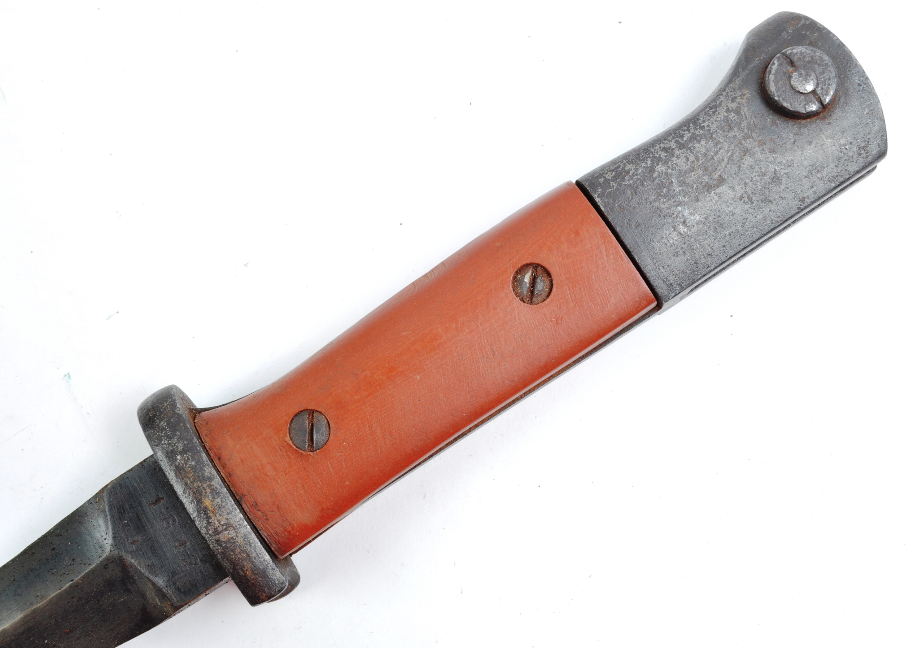A WWII Second World War Third Reich Nazi German trench combat knife / boot knife styled on an SG84/ - Image 8 of 9
