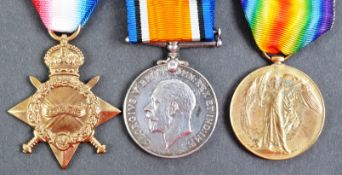 WWI FIRST WORLD WAR MEDAL GROUP - KIA FIRST DAY OF SOMME - SJT IN ROYAL IRISH RIFLES