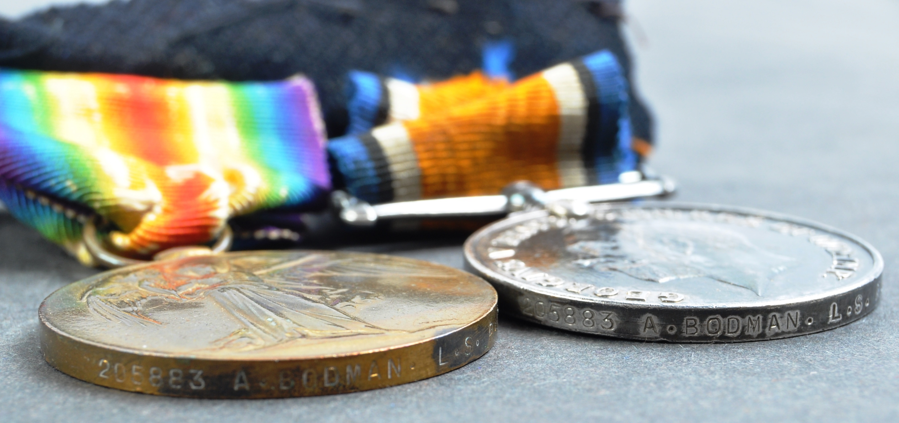 WWI FIRST WORLD WAR MEDAL GROUP - LEADING SEAMAN ROYAL NAVY - Image 8 of 10