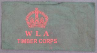 WWII SECOND WORLD WAR WOMENS LAND ARMY TIMBER CORPS ARMBAND