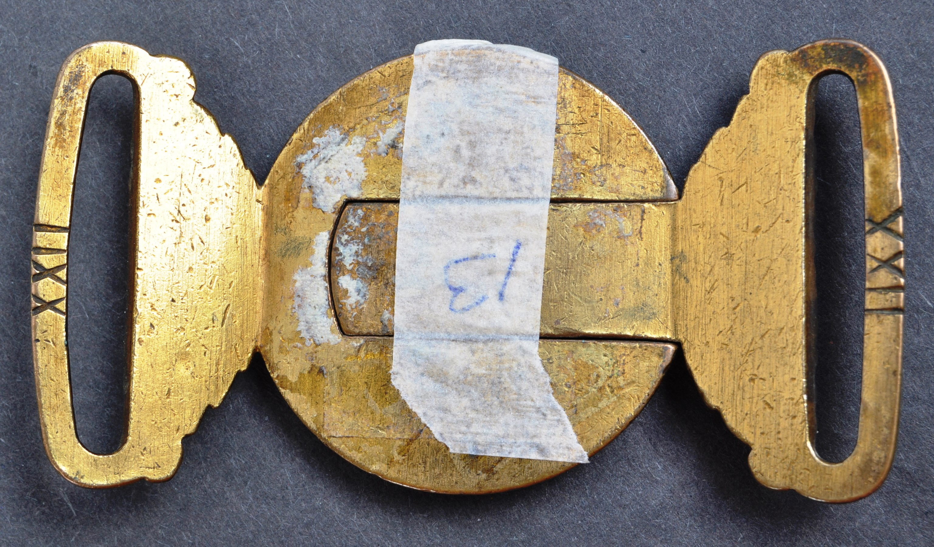 19TH CENTURY VICTORIAN BRITISH ARMY OFFICERS UNIFORM BELT BUCKLE - Image 3 of 4