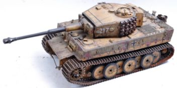 WWII SECOND WORLD WAR 1/16 SCALE MODEL OF OTTO CARIUS'S TIGER TANK