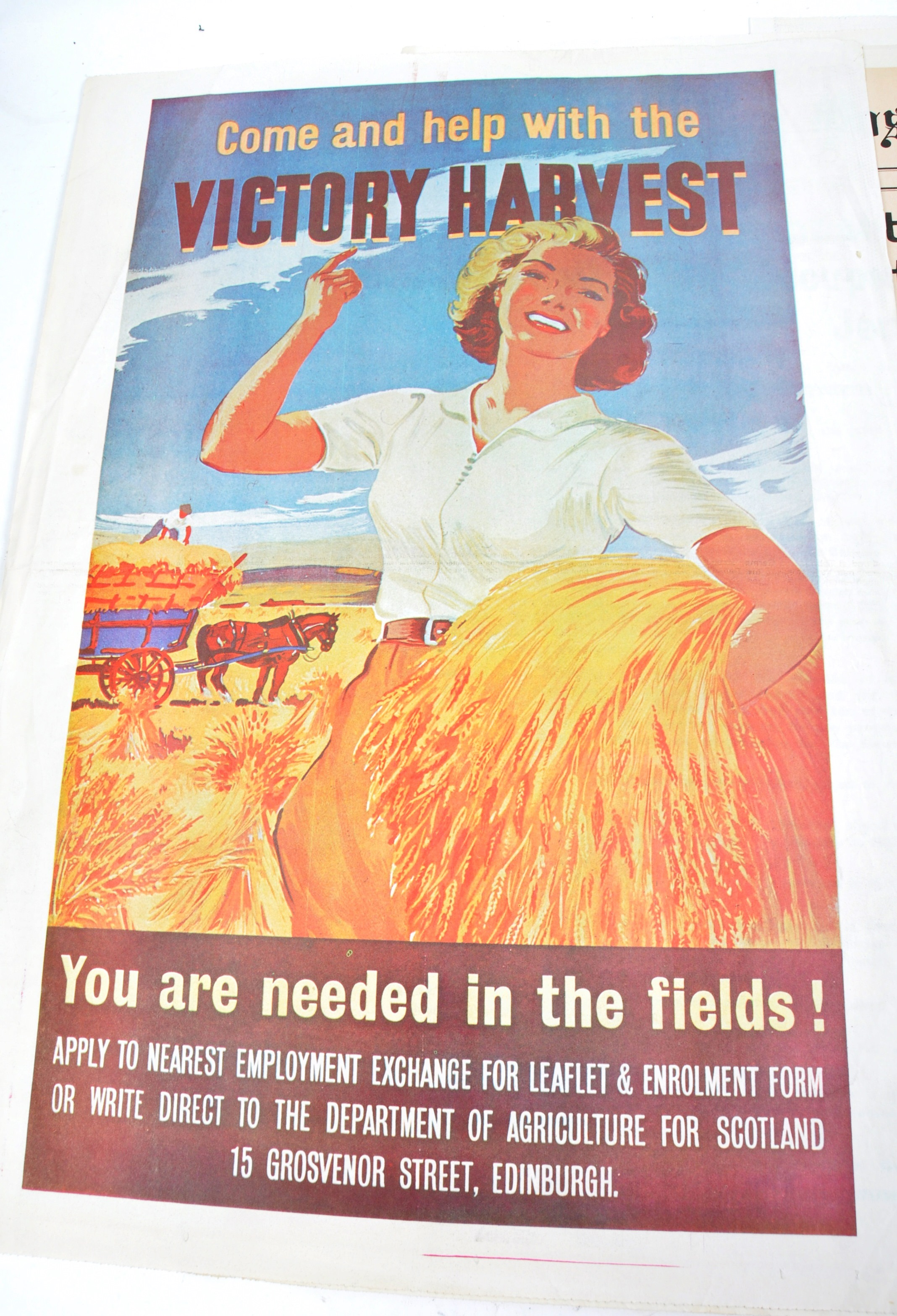 WWII SECOND WORLD WAR POSTERS - ENGLISH, GERMAN & OTHERS - Image 2 of 8