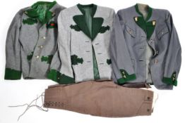 COLLECTION OF VINTAGE AUSTRIAN / GERMAN YODELLING JACKETS