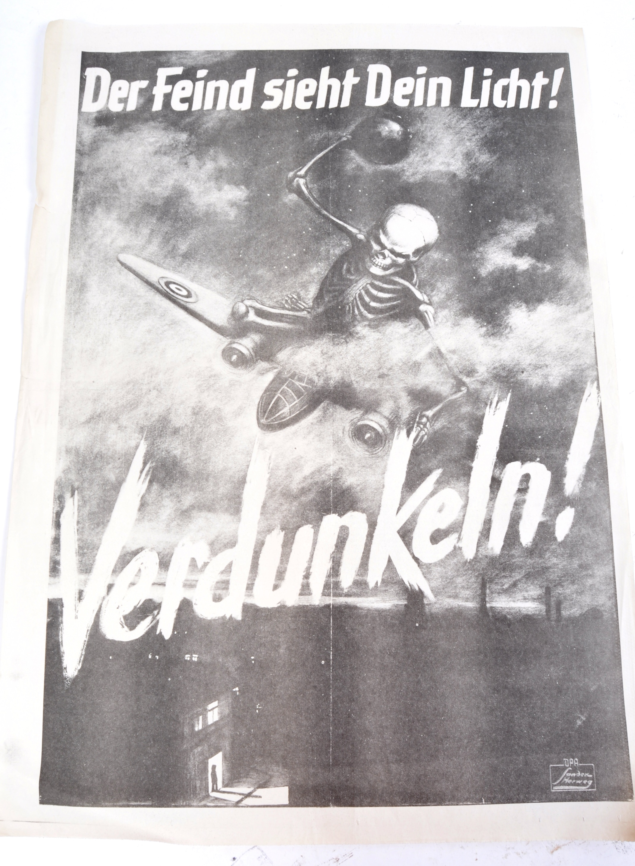 WWII SECOND WORLD WAR POSTERS - ENGLISH, GERMAN & OTHERS - Image 6 of 8