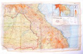 WWII SECOND WORLD WAR - C1944 BRITISH RAF SILK ESCAPE MAP