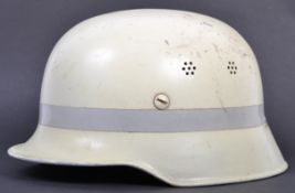 RARE POST-WWII GERMAN LUMINOUS FIRE FIGHTER'S HELM