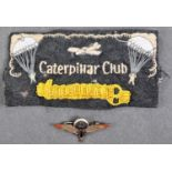 RAF WWII TYPE CATERPILLAR CLUB UNIFORM PATCH / BADGE