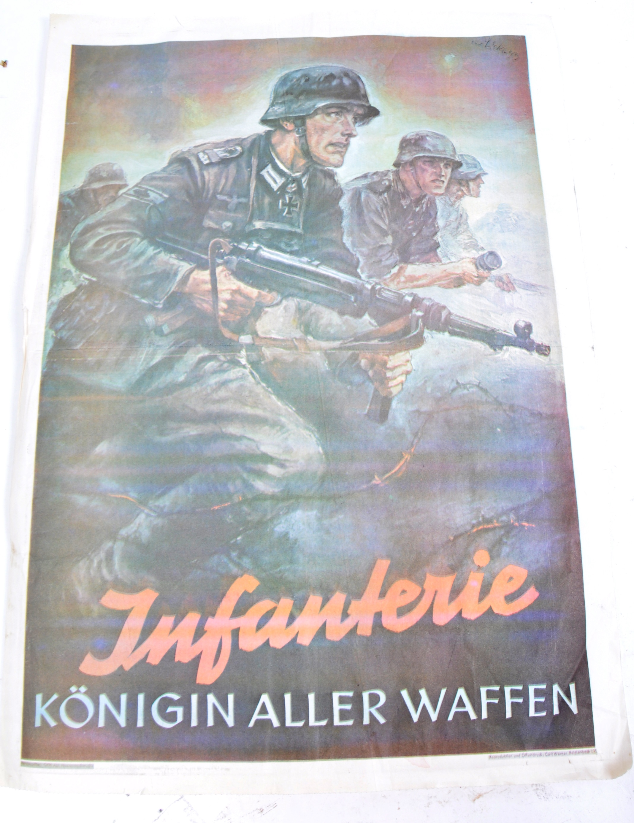 WWII SECOND WORLD WAR POSTERS - ENGLISH, GERMAN & OTHERS - Image 8 of 8