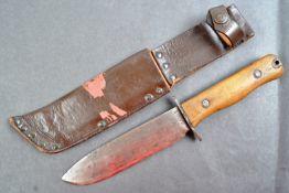 POST-WWII BRITISH RAF TYPE D SURVIVAL KNIFE & SCABBARD