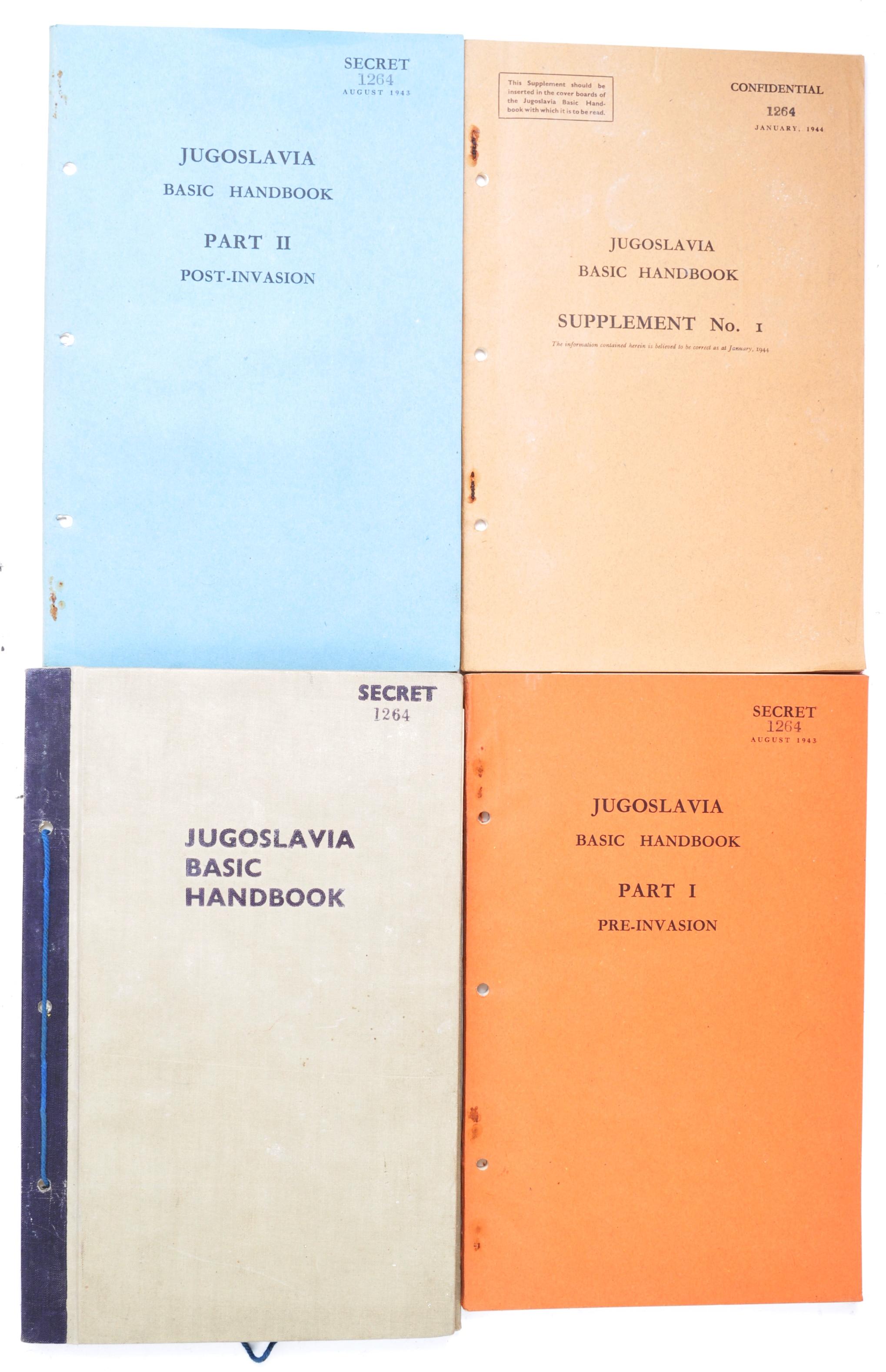 RARE ORIGINAL WWII 'SECRET' JUGOSLAVIA BRITISH HANDBOOKS