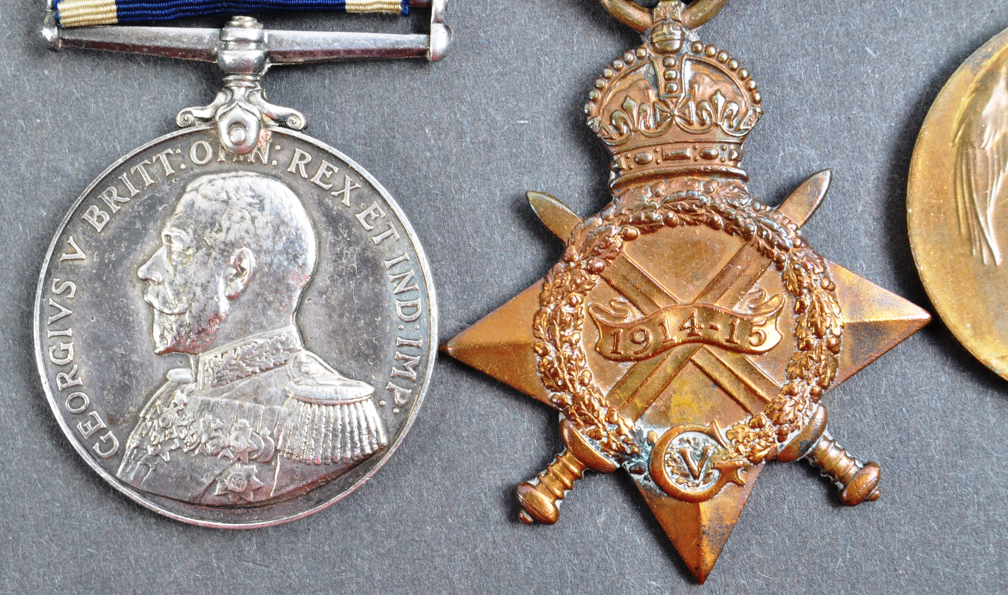 WWI FIRST WORLD WAR MEDAL GROUP - LEADING SEAMAN ROYAL NAVY - Image 2 of 10