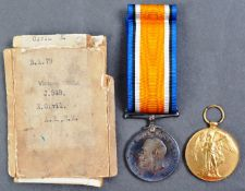 WWI FIRST WORLD WAR MEDAL PAIR - ABLE SEAMAN IN ROYAL NAVY