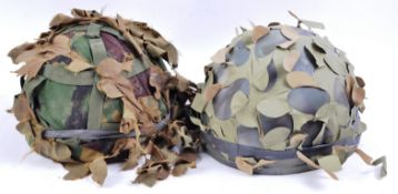 TWO 20TH CENTURY BRITISH ARMY IRAQ WAR SOLDIER'S HELMETS