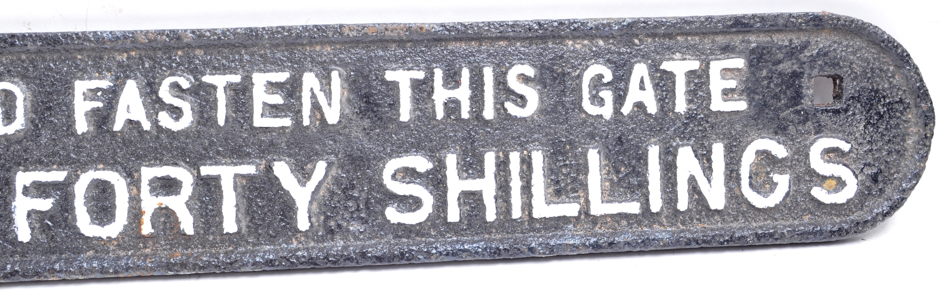 ORIGINAL VINTAGE BRITISH RAILWAYS CAST IRON WARNING SIGN - Image 4 of 5