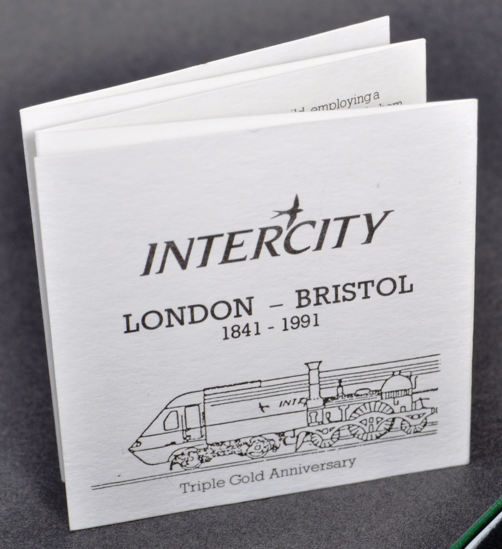 RAILWAYANA - INTERCITY LONDON BRISTOL ANNIVERSARY MEDALLION - Image 4 of 6
