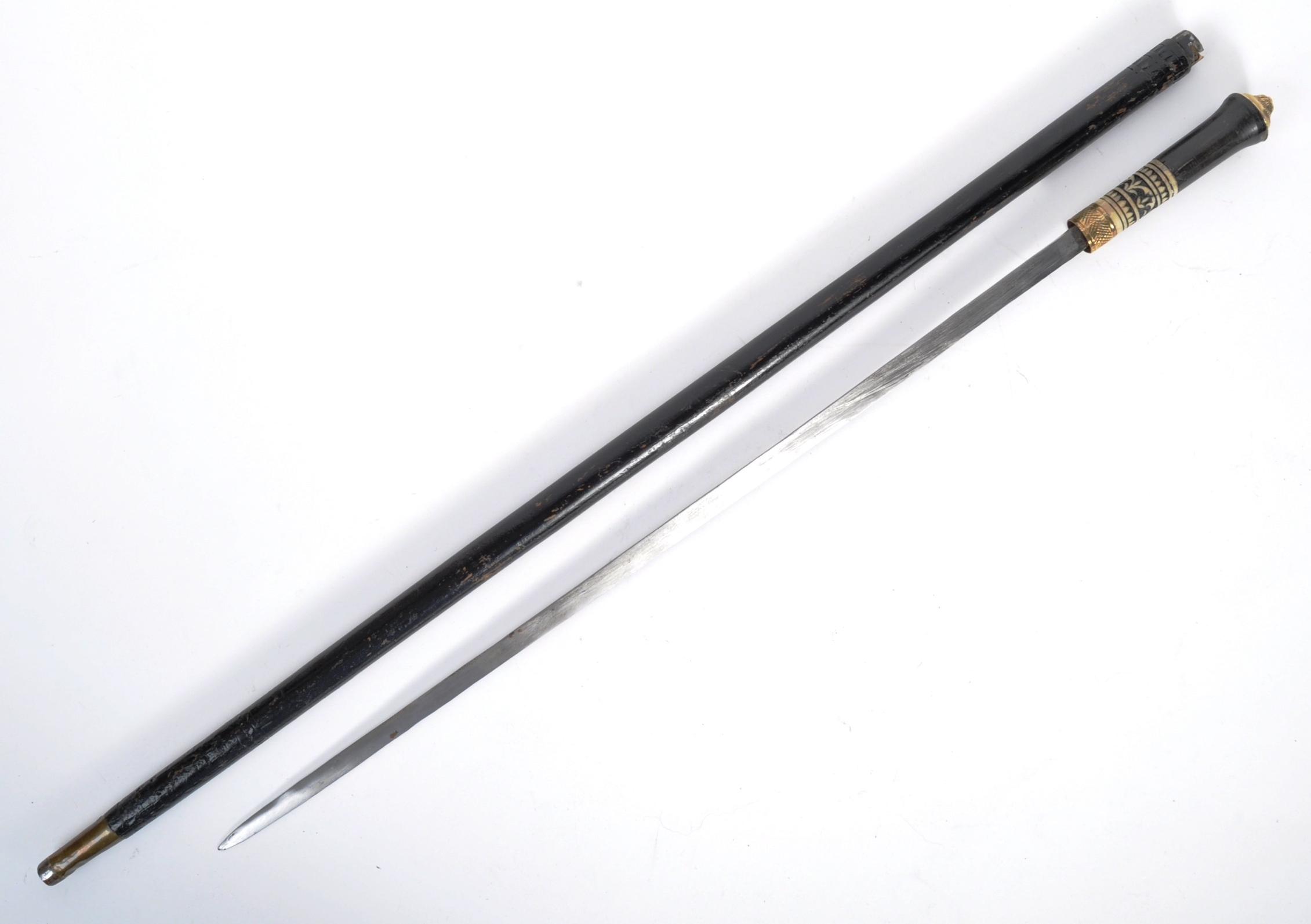 LATE 19TH CENTURY INDIAN SWORD STICK WITH CONSEALED BLADE