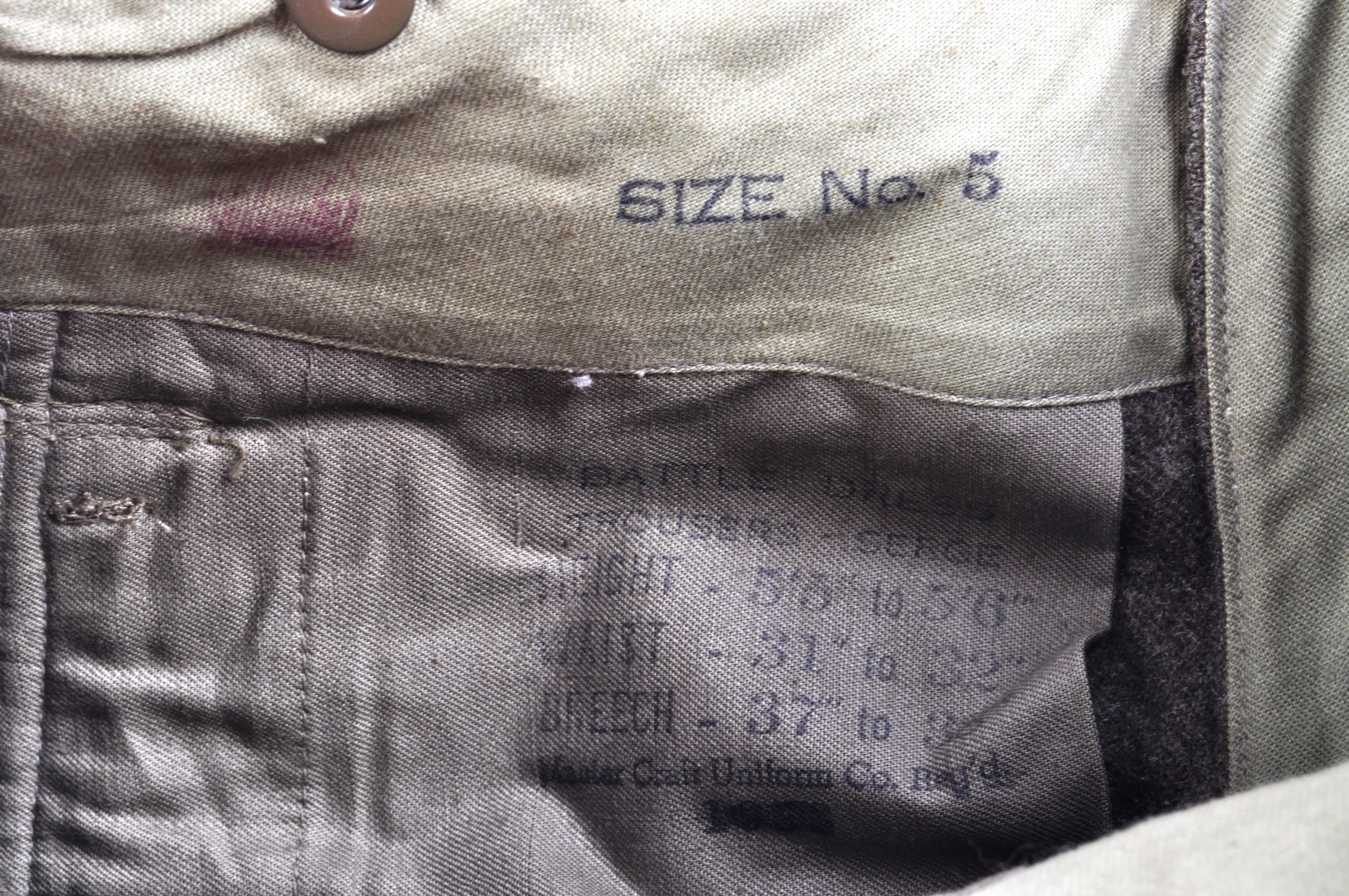 WWII SECOND WORLD WAR INTEREST - BRITISH ARMY TROUSERS - Image 4 of 7