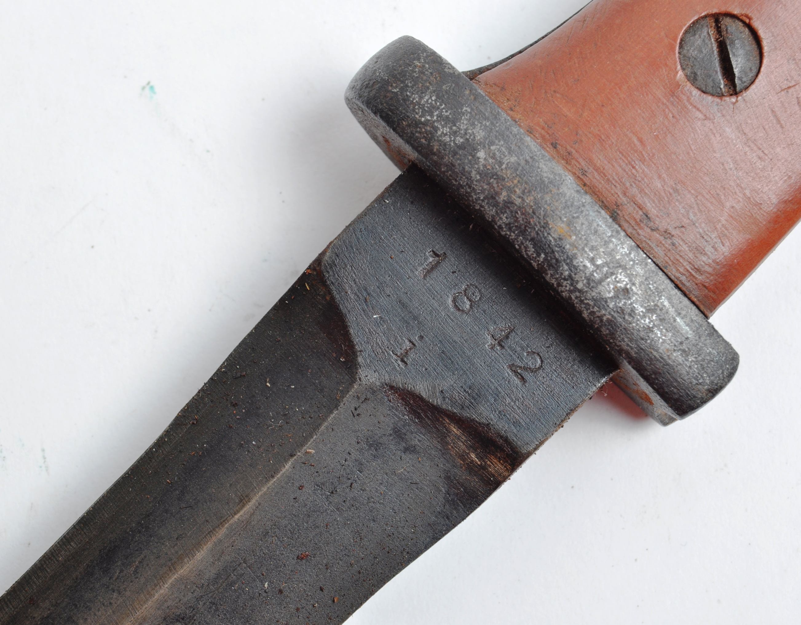 A WWII Second World War Third Reich Nazi German trench combat knife / boot knife styled on an SG84/ - Image 7 of 9