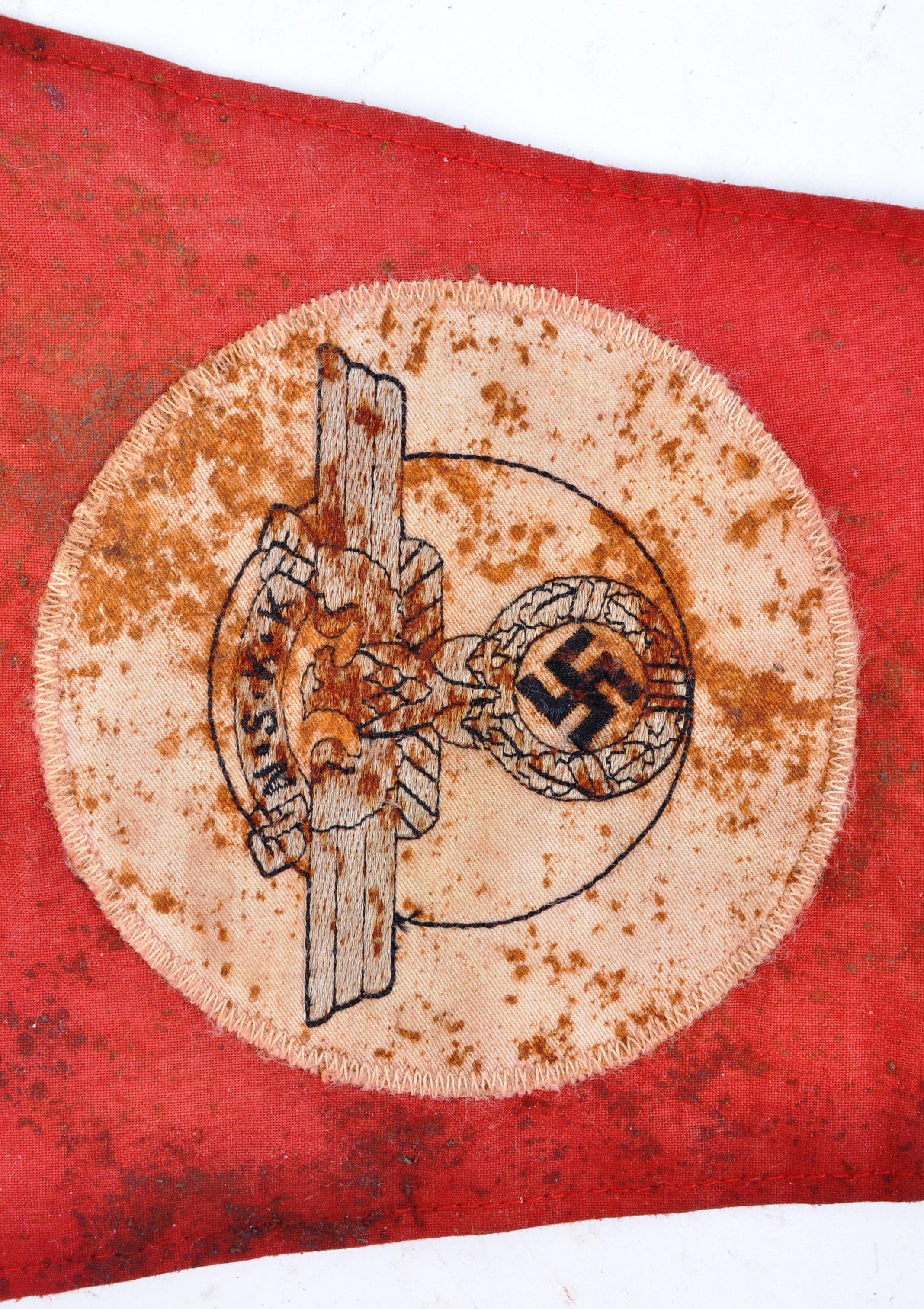 WWII SECOND WORLD WAR GERMAN THIRD REICH VEHICLE PENNANT - Image 2 of 5