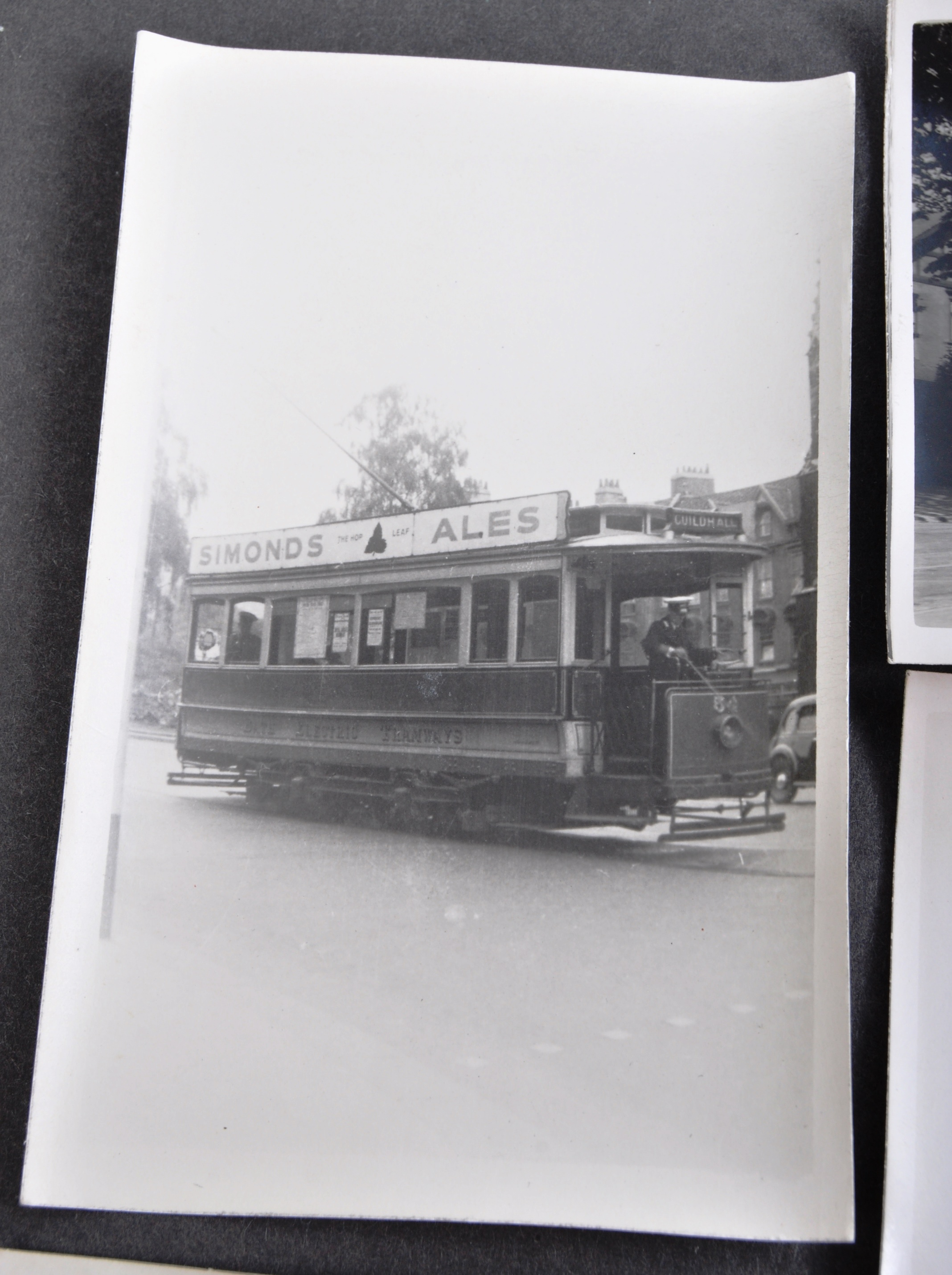 TRAMS & TROLLEY BUSES - LARGE COLLECTION OF BLACK AND WHITE PHOTOS - Image 8 of 9