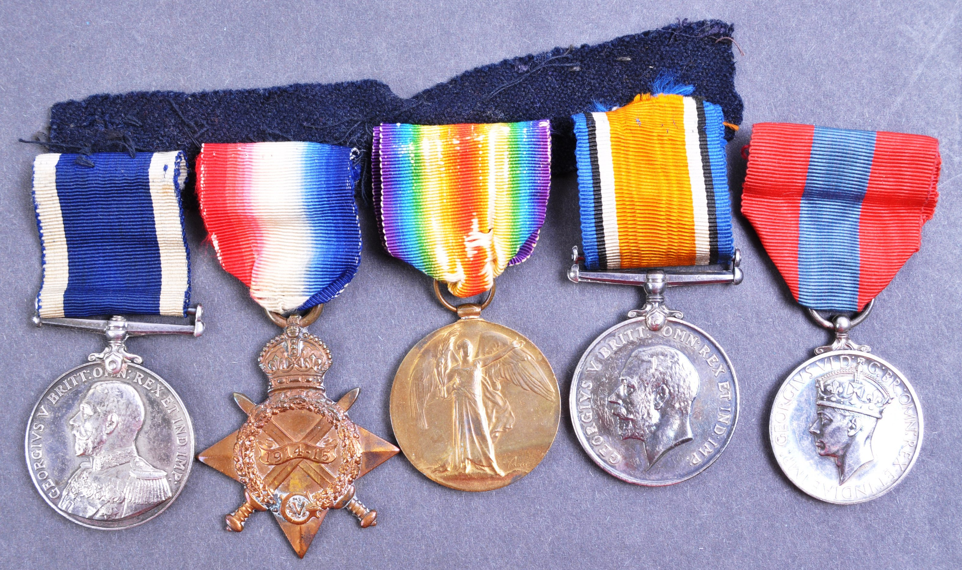 WWI FIRST WORLD WAR MEDAL GROUP - LEADING SEAMAN ROYAL NAVY