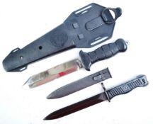 YUGOSLAVIAN M56 BAYONET AND A JAPANESE DIVING KNIFE