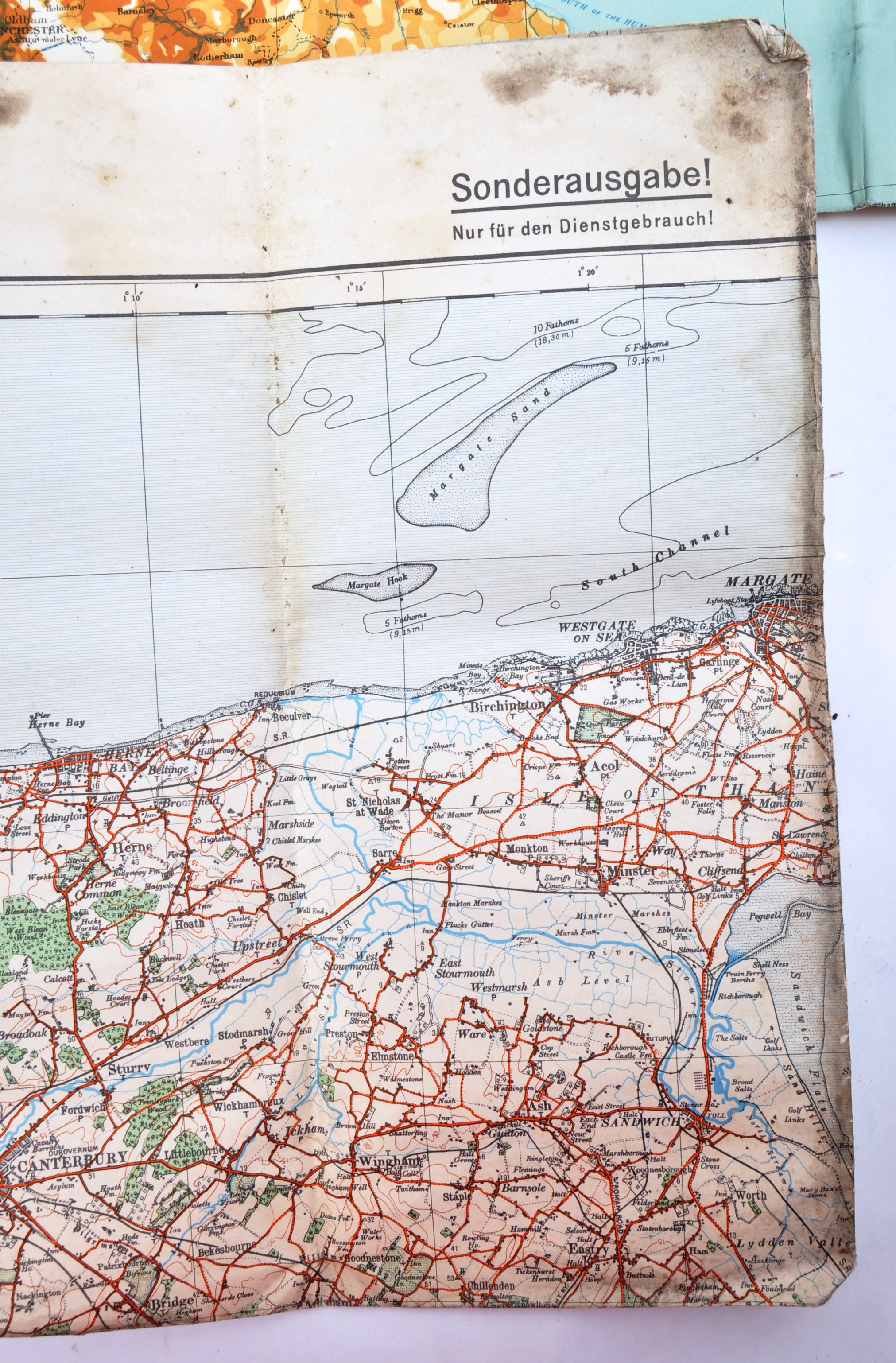 COLLECTION OF X6 ASSORTED WWII GERMAN ARMY MAPS - Image 6 of 10