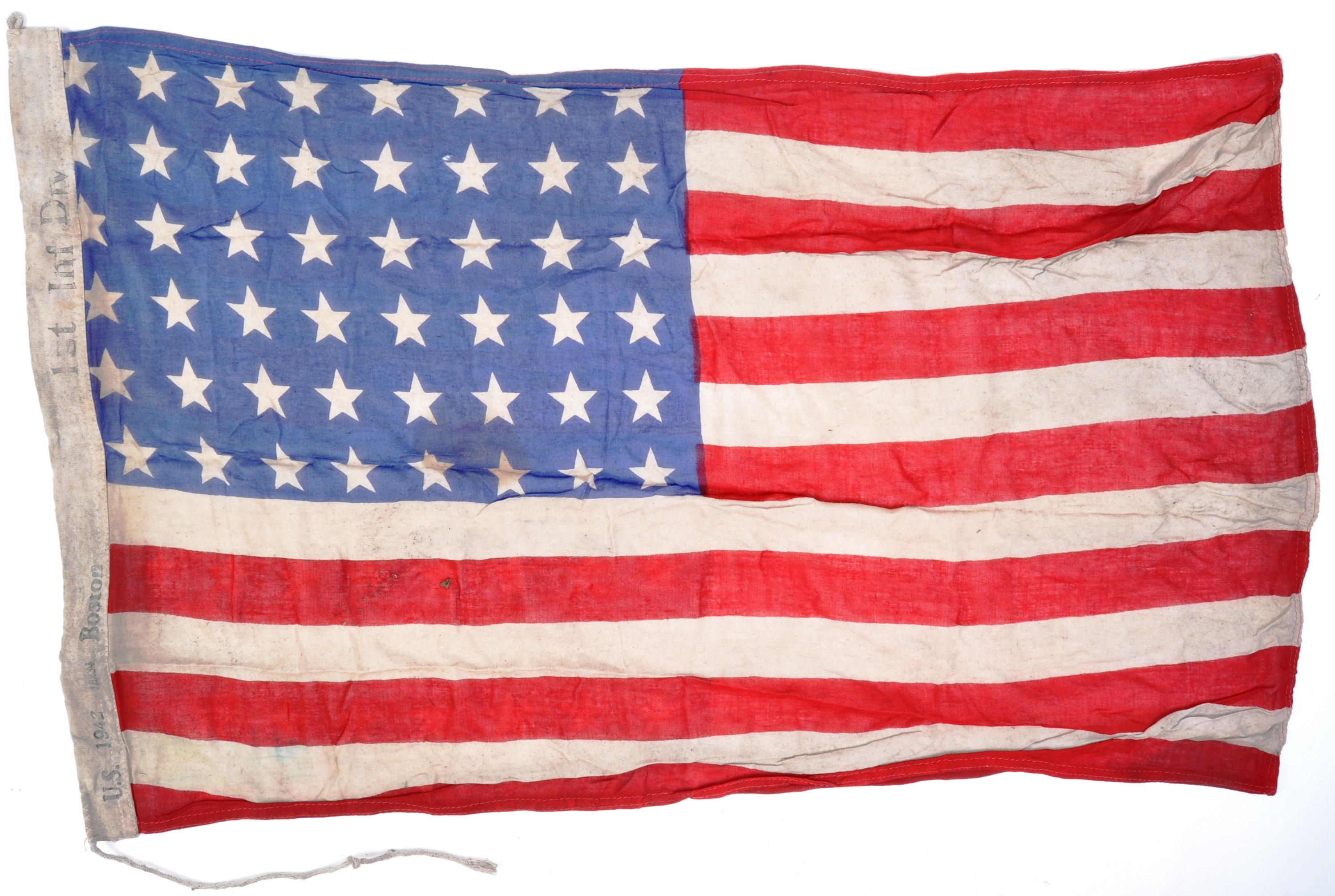 WWII SECOND WORLD WAR INTEREST FLAG - 1942 US ARMY DATED