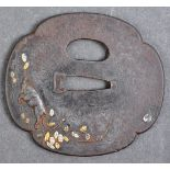 ANTIQUE JAPANESE 18TH / 19TH CENTURY SAMURAI SWORD TSUBA